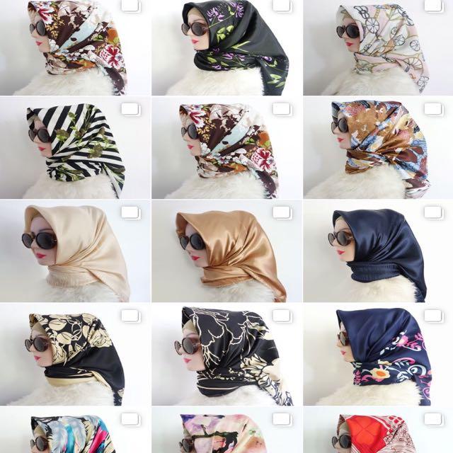 Hijab Square Satin Silk