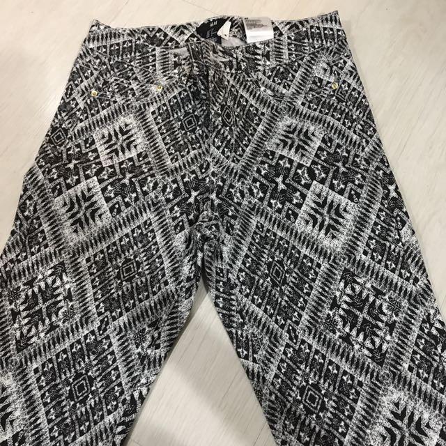 H&m Printed Skinny Jeans