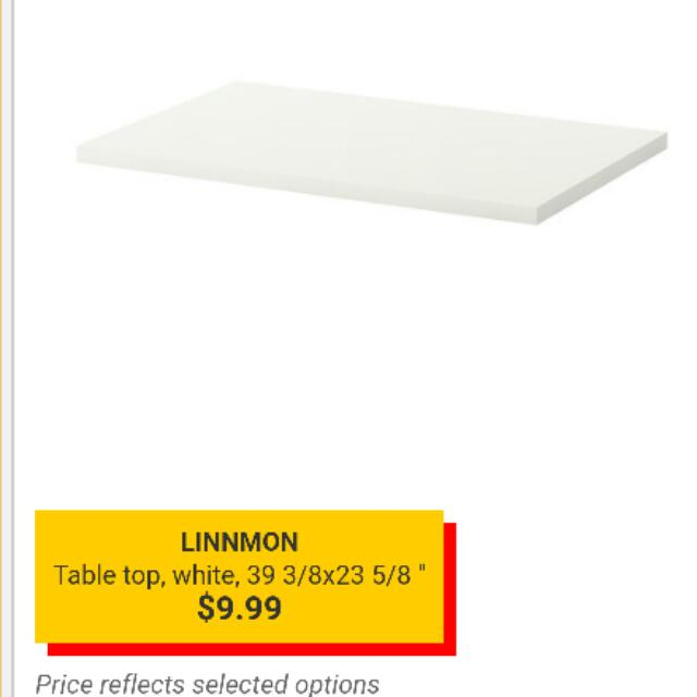 Ikea White Table Top x 2