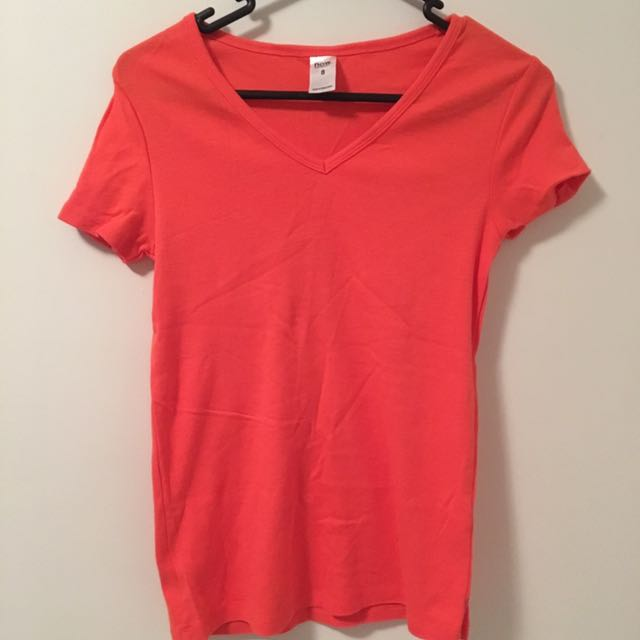 KMART Bright Red V-neck