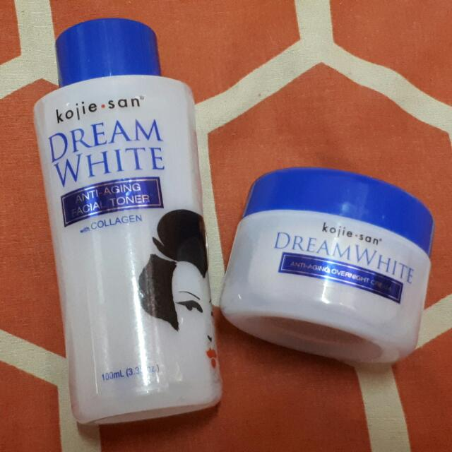 Kojie San Anti-aging Toner And Overnight Cream