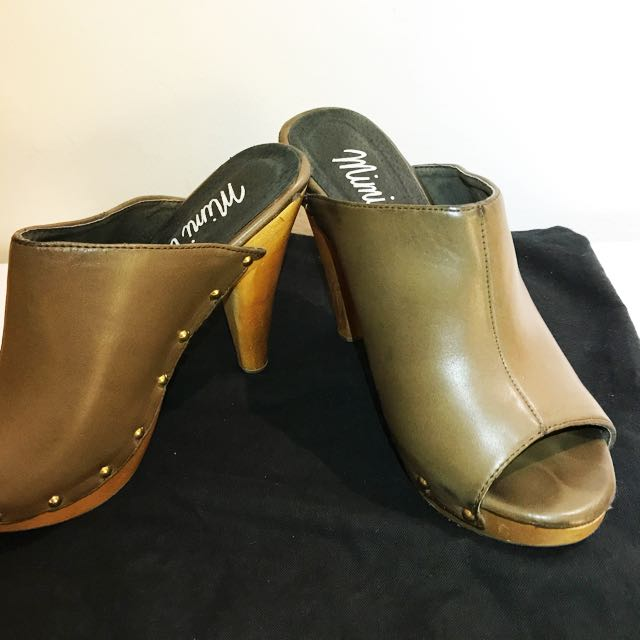 Leather and Wood Sandal
