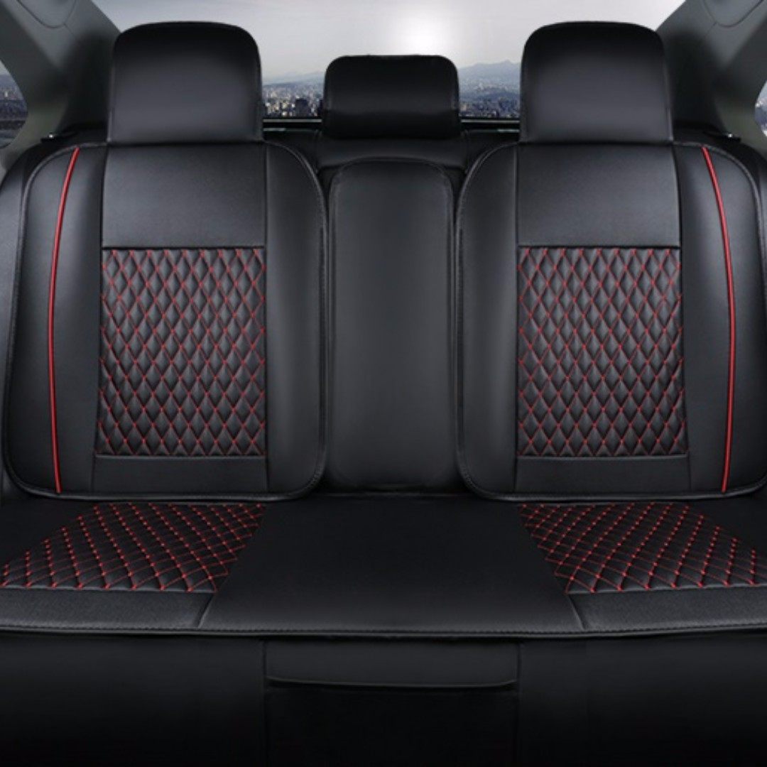 Leather Universal Car Seat Cover!, Car Accessories on Carousell