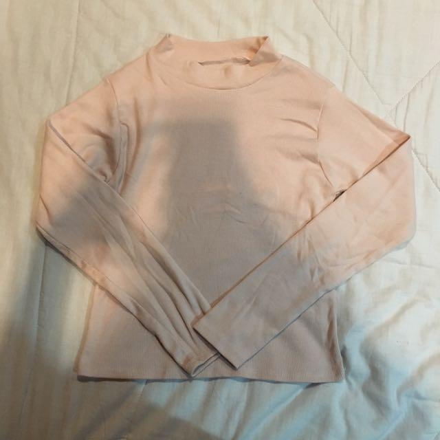 Light Pink Long Sleeved Top
