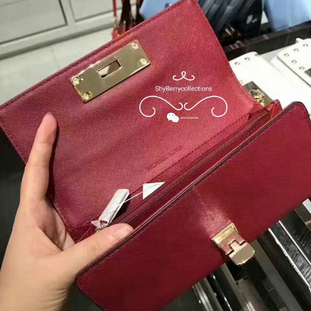 a7e8d73f43f70a Michael Kors Callie Stud Saffiano Leather Carryall Wallet, Luxury, Bags &  Wallets on Carousell