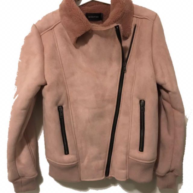 MinkPink Pink Biker Jacket