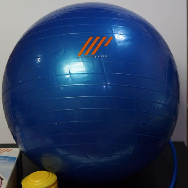 Muscle Power Burst Resistant Exercise Ball