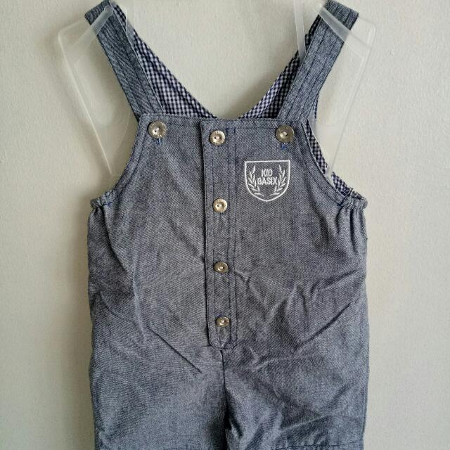 New! Soft Denim Jumper Shorts Fits 12-18 Mos