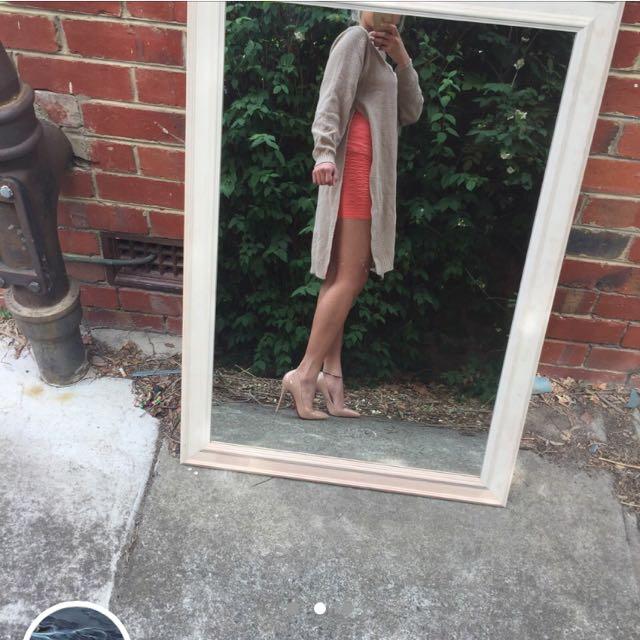 Nude Tunic Side Split Dress