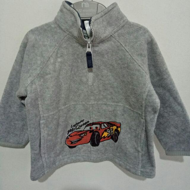 Old Navy Lightning McQueen Fleece Jacket Size: 12-18 mos