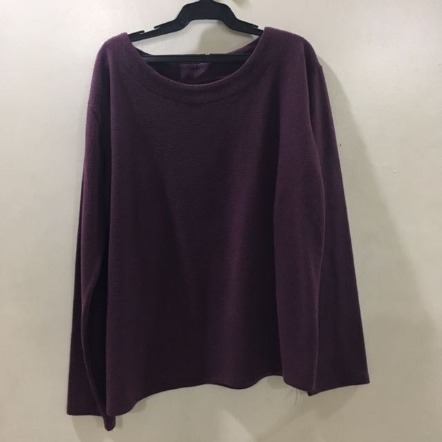 Oversized Plum Sweater