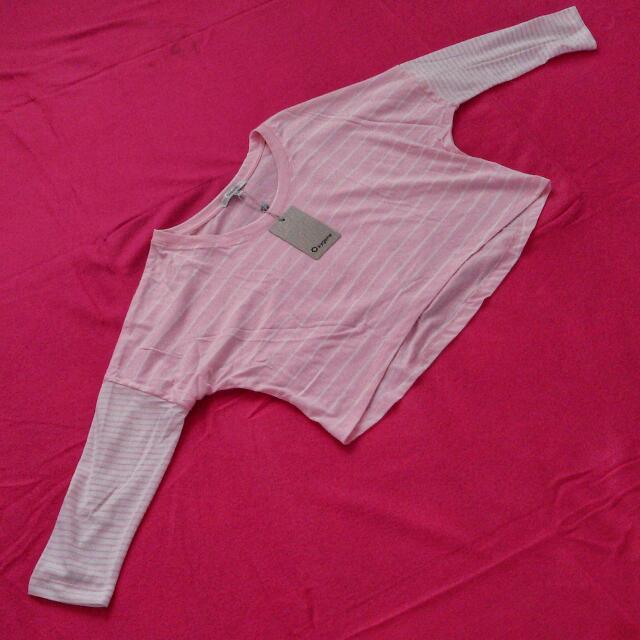 Oxygene Cotton Cropped 3/4 Sleeve