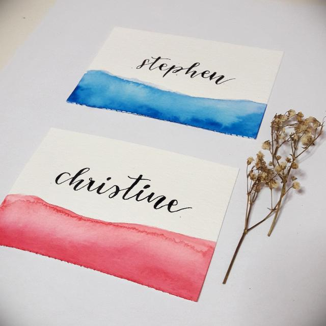 Personalised Name Place Cards Customised Names Wedding Name Place
