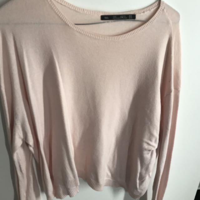 Pink Long Sleeve Cropped