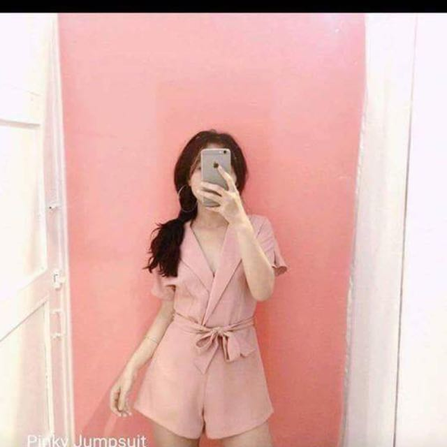 Pinky playsuit