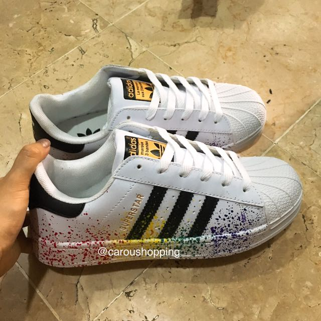 huge discount 80264 62df9 PO] Rainbow/Black Adidas Superstars Sneakers, Bulletin Board ...