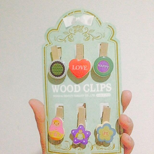Polaroid Wood Clip