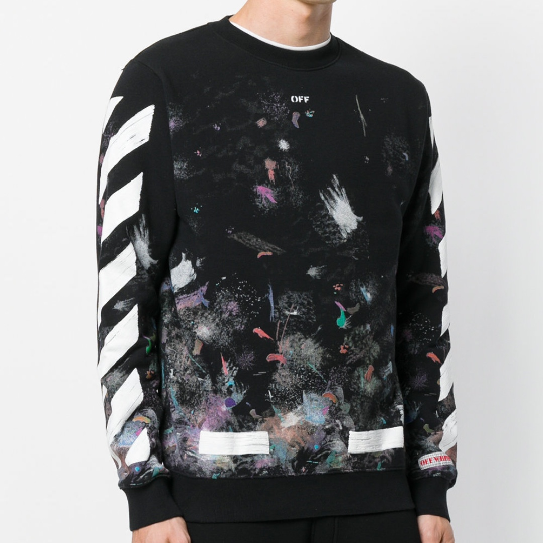 POPULAR] Off-White Diagonal Galaxy Brushed Sweatshirt, Men's ...
