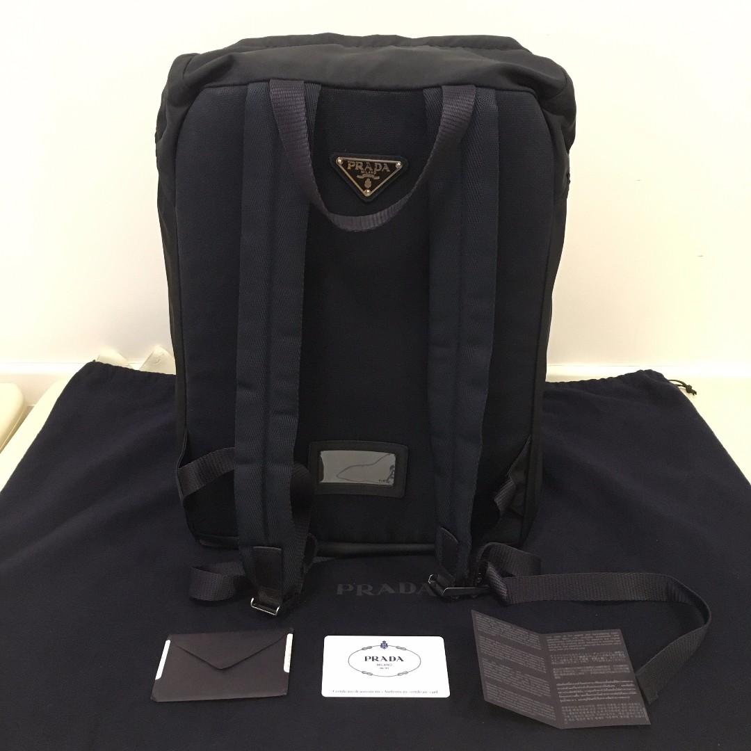 hot prada nylon backpack blue 59421 0ce2b  reduced prada backpack v135  luxury bags wallets on carousell 7175a 341b6 2e01fd56ab977