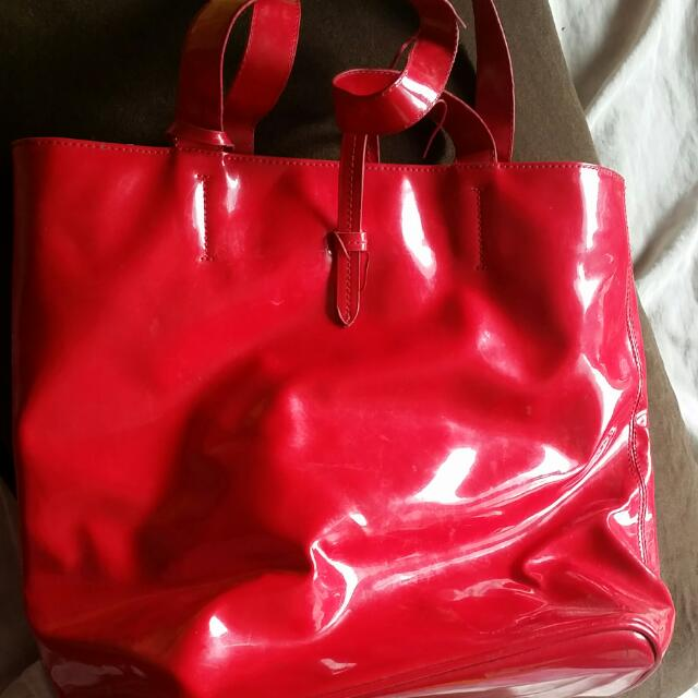 Red Bag With Pouch