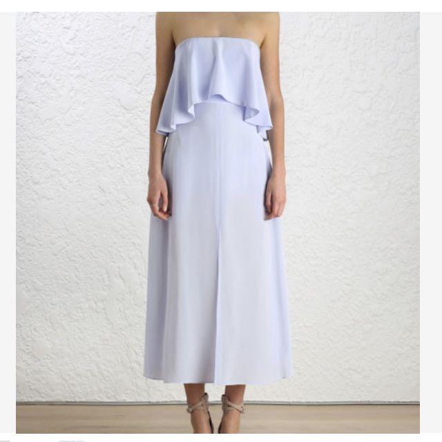 RENT A DRESS: Zimmermann Strapless Flounce Dress | Size 8