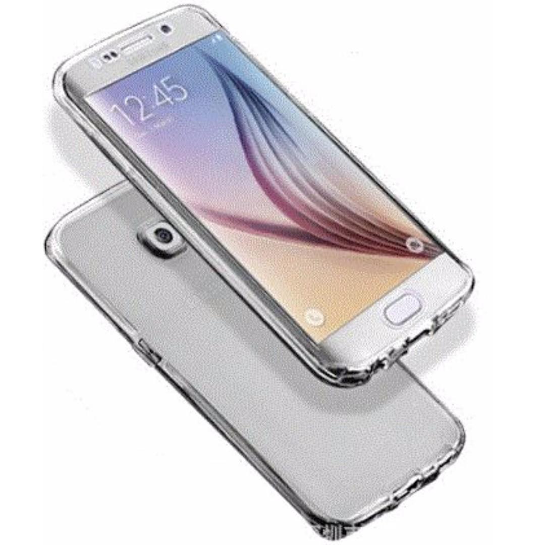 new style 05030 f4c4c brand new Samsung Galaxy S7 edge 360 Degree TPU Phone Case (Black  Transparent)