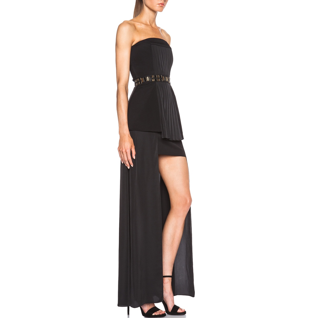 Sass & Bide - See Then Saw Strapless Dress - Black/ Gold - Size 8 - BNWT - RRP $790