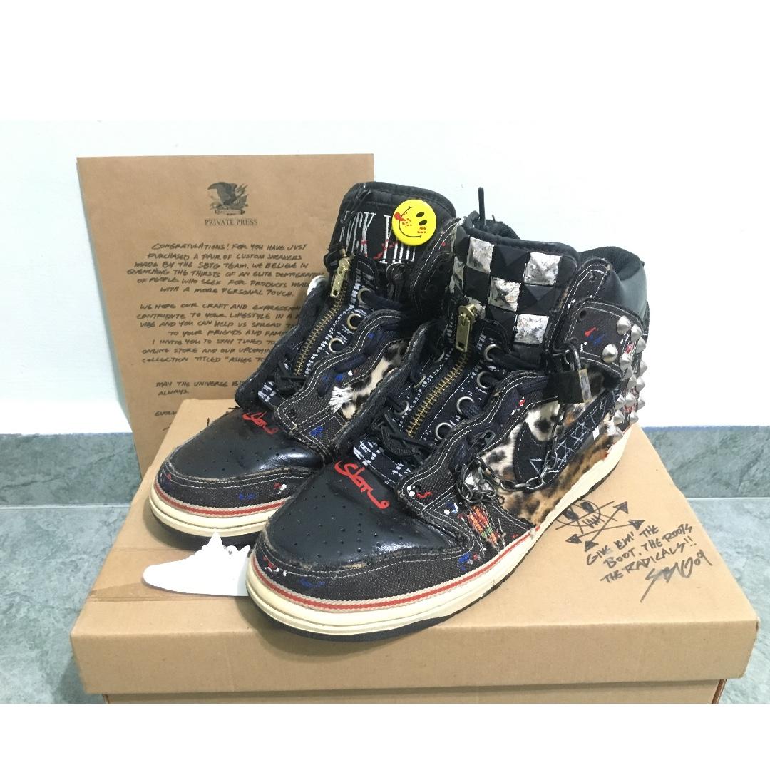 the latest 1c582 6e063 SBTG X Nike Dunk Hi Opivy (Customized), Men's Fashion ...