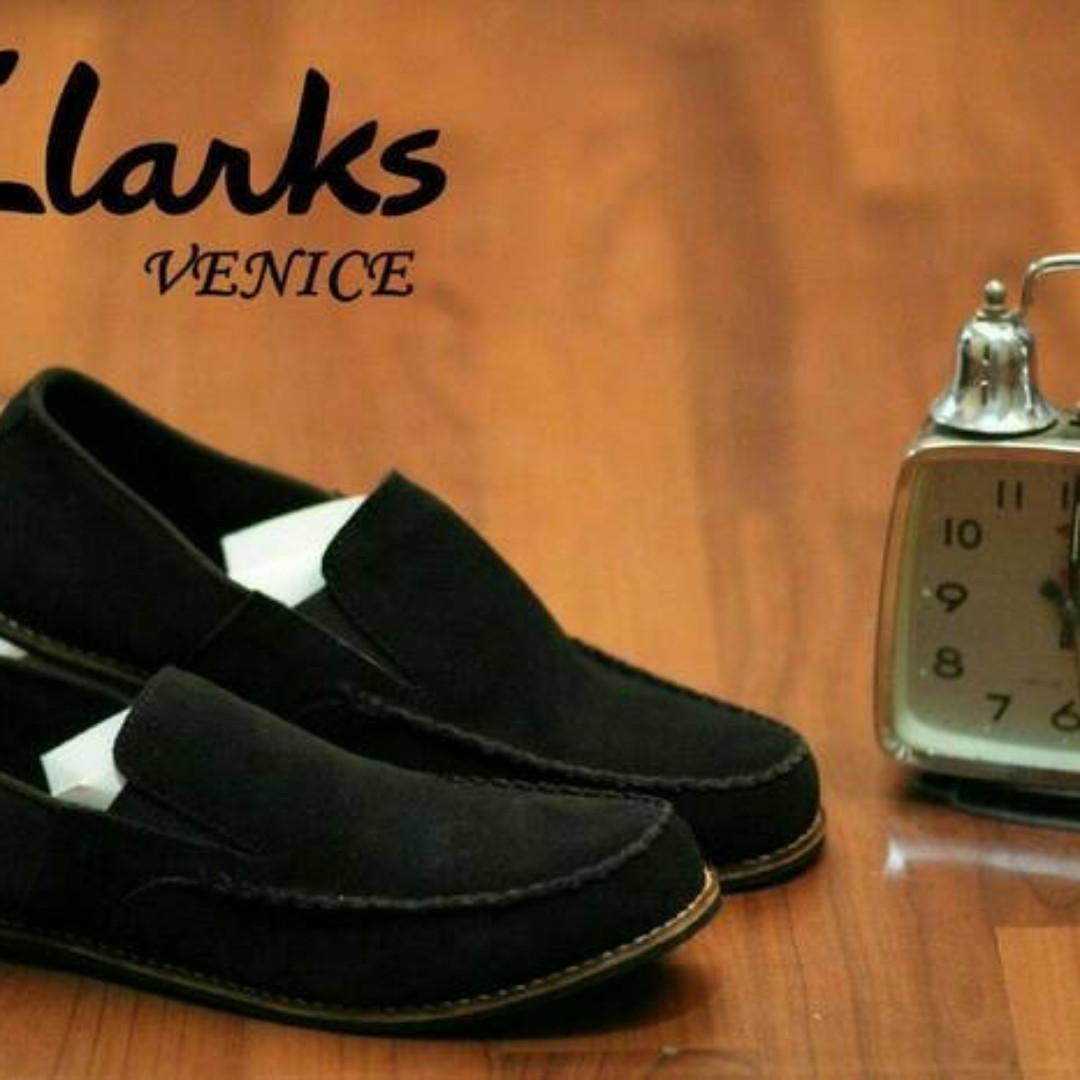 Sepatu Kulit Asli Pria Clarks Casual Slipon Premium 4a0b0425ac