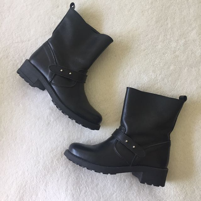 Shoe The Bear Leather Biker Boots