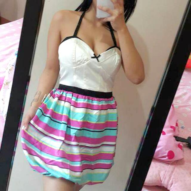Singapore Bustier Girly Dress