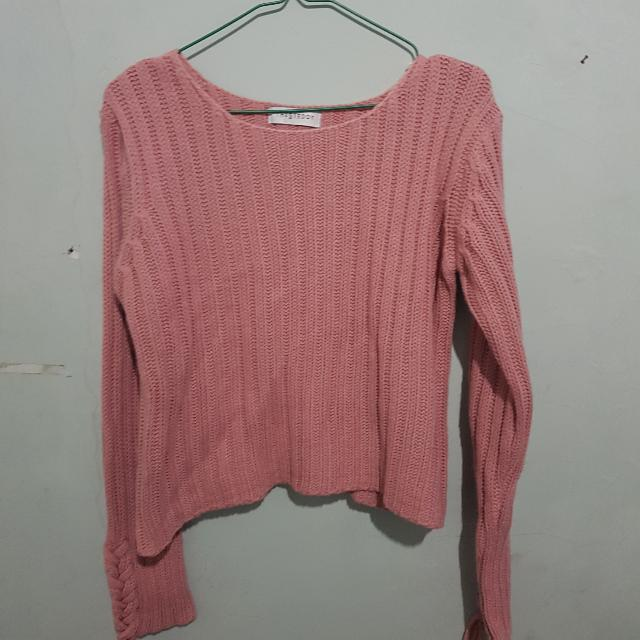 STEDDY Pink CROP Sweater