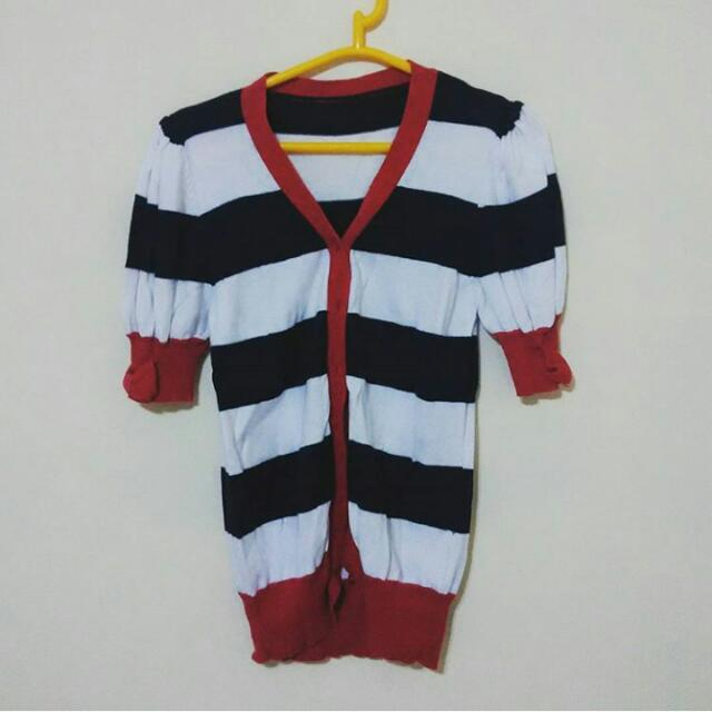 Stripes Knitted Cardigan