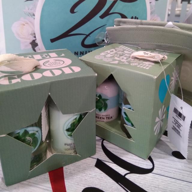 the bodyshop fujigreentea gift cube