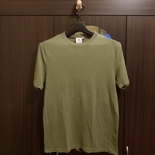 Topman Camo Green Shirt - Small