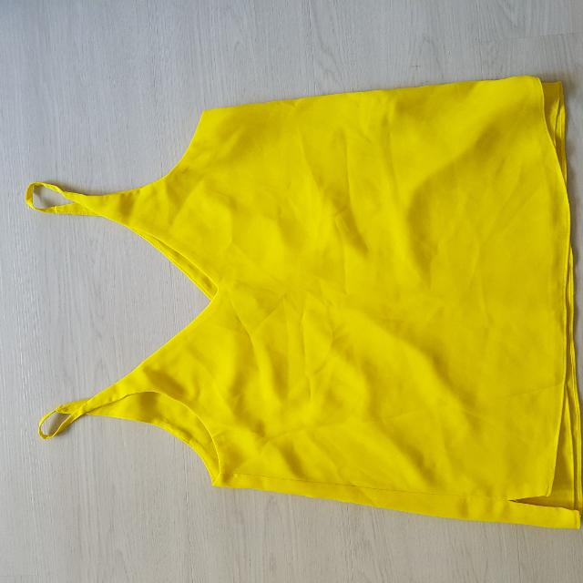 Topshop Yellow Sleeveless Tank
