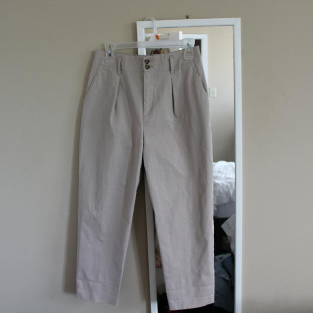 Uniqlo High-waisted Pleated Chinos