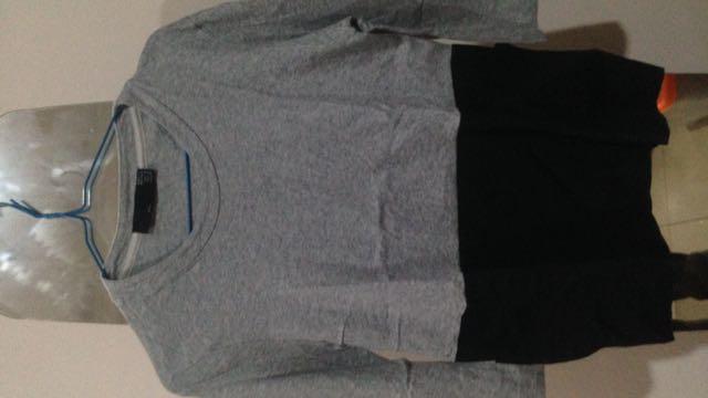 Zara Trafalluc Tshirt (kaos Abu Abu Hitam) (kaos Lengan Panjang Zara)