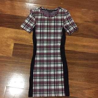 Topshop Grunge Red Dress Size 6