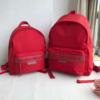 12.12  88 Now! Longchamp Le Pliage Neo Backpack M - RED c69af1008b283