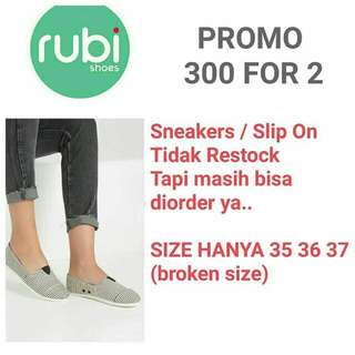 Rubi Slip On/Sneakers Spesial Price 300rb For 2!!