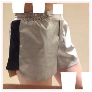 銀色皮短褲 #女裝五折出清