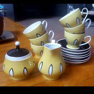 Cute Yellow Tea Set