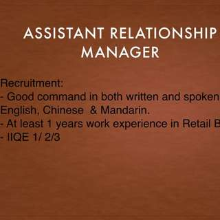 Assistant Relationship Manager