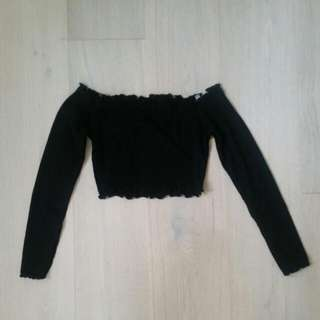 NEW Knit Off Shoulder Longsleeve Crop Top
