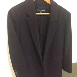 Sportscraft Navy Wool Blend Coat size 12