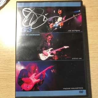 G3 Joe Satriani親筆簽名dvd