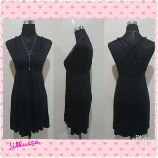 Black Sexy Back Mini Dress