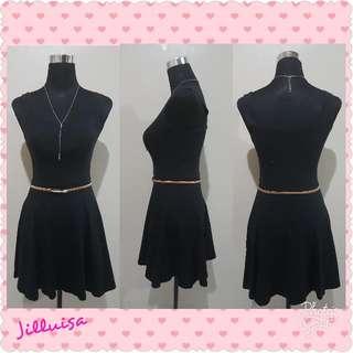 Black Skater Mini Dress