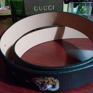 Black Tiger Print Gucci Belt